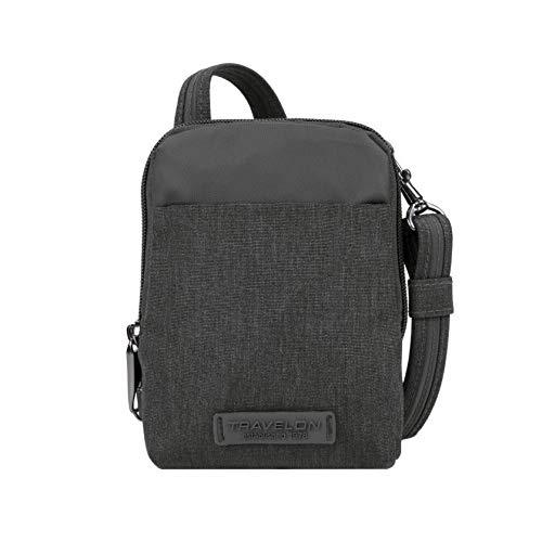 Travelon: Anti-Theft Metro Stadium Mini Crossbody Bag - Gray Heather