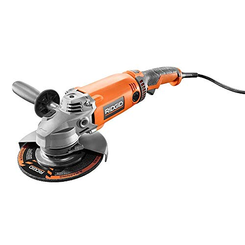 RIDGID 15 Amp Corded 7 in. Twist Handle Angle Grinder-R10202 (Renewed)