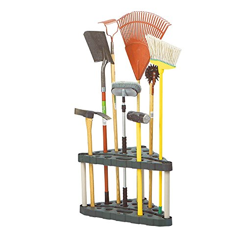 Garden Tool Organizer Corner Rack Storage Floor Tools Holder Sturdy Lightweight 30 Handle Stand-up Tool Organizer Solid Base Stable Construction Storage Utility for Home Garage Shed eBook by BADA shop
