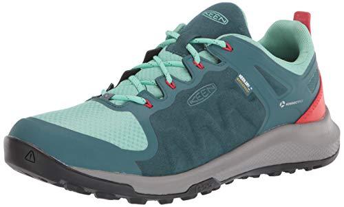 KEEN womens Explore Wp Hiking Shoe, Balsam/Beveled Glass, 10 US