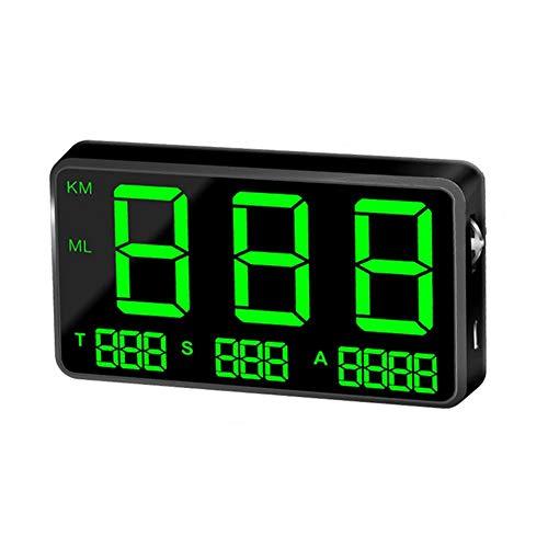 waterfaill C80 GPS Tachometer Geschwindigkeitsmesser Auto HUD Head Up Display, KM/h MPH Geschwindigkeit Warnung, USB Ladegerät verfügbar, für alle Fahrzeuge, Fahrrad, Motorrad