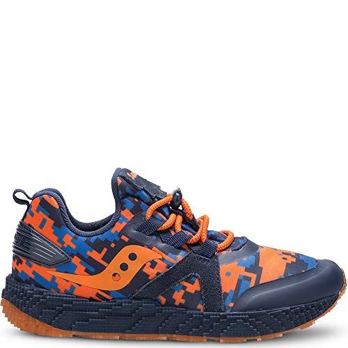 Price comparison product image Saucony Boys' Voxel 9000 Sneaker,  Navy / Orange,  1 Medium US Little Kid