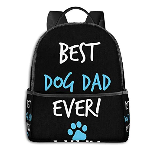 Best Dog Dad Giftfashion School Backpack Unisex Classic Lightweight Backpack Printing Cute for Boys Girls High School College Schoolbag Sloth