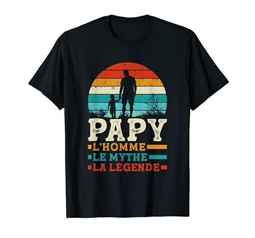 Homme Fête des Grands-Pères - L'Homme Le Mythe La Légende Papy T-Shirt