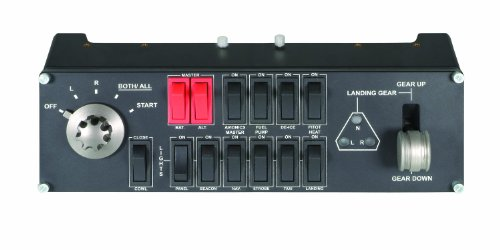 Painel com Controle de Interruptores para Simulação Profissional de Voo Flight Switch Panel, Logitech G, Joysticks e Controles para Computador