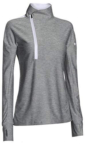 Under Armour Women's Hotshot 1/2 Zip Athletic Workout Top Shirt (White, XS)
