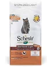 Schesir, Comida Seca para Gatos Esterilizados esterilizados o en Sobrepeso con Pollo - Formato Bolsa De 1 Kg