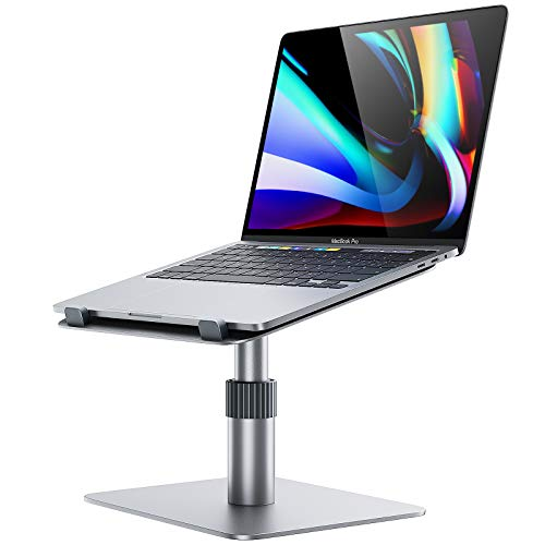 Swivel Laptop Stand, GIKERSY Adjustable Height Laptop Riser [360-Rotating] Ergonomic Computer Stand Notebook Holder for Desk Compatible with MacBook,Dell XPS,Lenovo More 10-16' Laptops