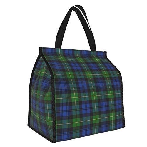 Gordon Highlanders - Borsa per il pranzo in tartan, borsa termica per la preparazione dei pasti, grande contenitore per lavoro e viaggi scolastici, per donne e uomini