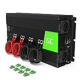 Green Cell 2000W/4000W 12V a 220V/230V Onda sinusoidal modificada Inversor de Corriente DC AC Power Inverter Transformador de Voltaje para Coche Camion con Puerto USB y Pinzas de conexión a batería