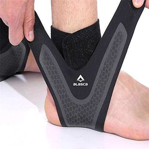 Tornozeleira 4D Ajustável Alasca para prevenção e recuperação de lesões e dores. Ideal para corrida, musculação e futebol. (40-43, Tornozelo Esquerdo)