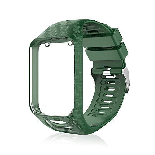 Volwco Cinturino per Tom Tom,Cinturino di Ricambio in Silicone Compatibile Tomtom 2/Runner 3/Spark 3/Adventurer/2 Golfer GPS Orologio Sportivo