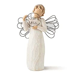 Sentiment: With sincere thanks written on enclosure card 5.5 Inch hand-painted resin figure with wire wings; ready to display on a shelf, table or mantel; to clean, dust with soft brush or cloth A gift to express appreciation and thankfulness for tea...