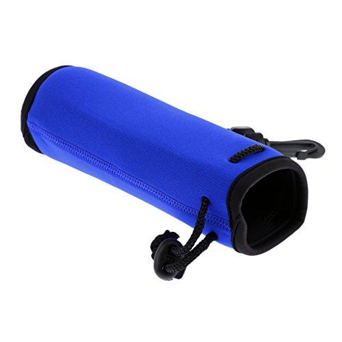 HomeDecTime Soporte de Bolsa de Manga de Bolsa de Funda de Botella de Agua Deportiva con Aislamiento de Neopreno con Clip de Gancho - Azul