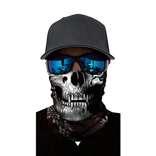 Brave Pioneer Halloween Skelett Masken Schwarz Motorrad Sturmhaube Schädel Sport Gesichtmaske Schal Hals Headwear Hut Ghost Karneval Party (Modell-422-6)