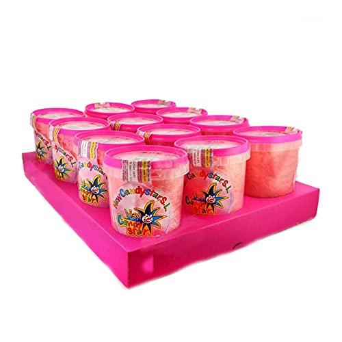 Algodón de Azúcar Candy - Azúcar sabor Fresa - 12 unidades