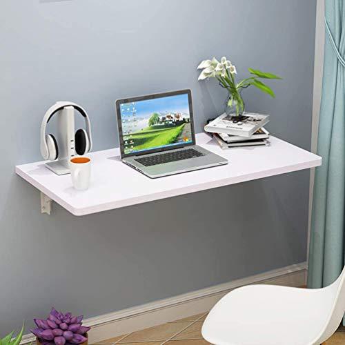 BCXGS Mesa Plegable de Pared para Cocina y Comedor, Mesa de Comedor con Hojas abatibles, escritorios para Estaciones de Trabajo, Mesa de Estudio para niños Color Blanco,70x40cm/27.5x15.5in