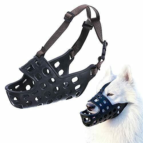 NIUBICLAS Bozal para perro, de goma suave, para perros pequeños, medianos y grandes, permite jadear y beber, evita ladrar y masticar no deseados