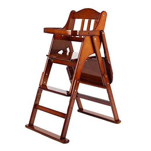 Bois Pliable Chaise Haute pour bébé Multifonction Enfants Portables apprennent à s'asseoir sur la Chaise de Table Facile à Nettoyer Structure Ultra Stable