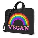 Sacoche pour Ordinateur Portable Rainbow Vegan Sacoche pour Ordinateur Portable à bandoulière Sacoche multifonctionnelle pour Ordinateur Portable Housse de Transport 15.6 inch