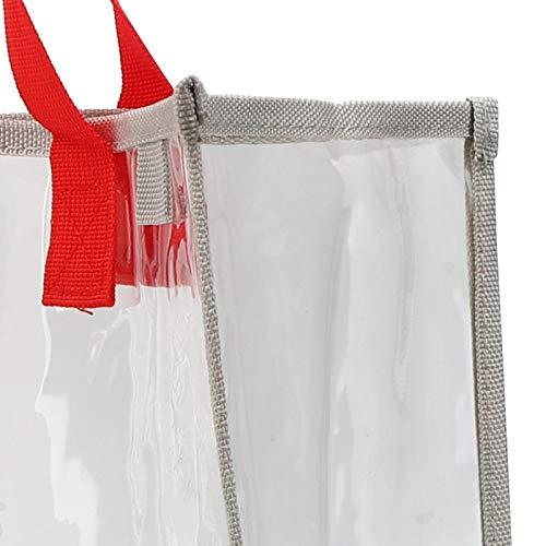 QIRG Bolso de PVC Transparente, Bolso Transparente para Exteriores con Asas para Sujetar Toallas, sombrillas, Carteras para Nadador