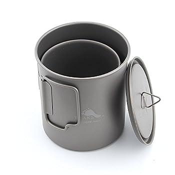 TOAKS Tasse/Pot de Camping Portable Ultraléger en Titane (750ml+450ml[CMB-750-450])