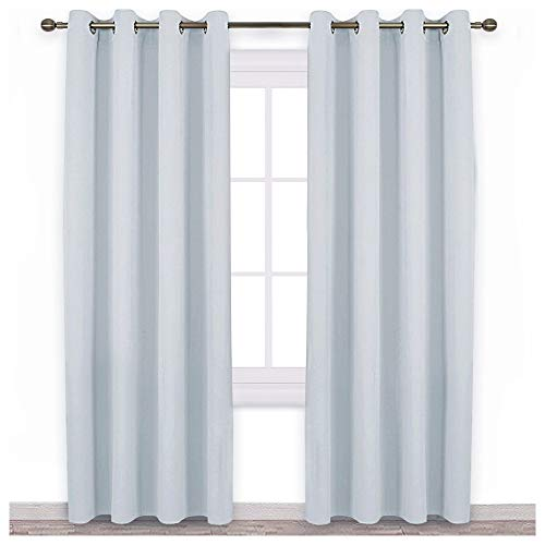 NICETOWN Room Darkening Curtain Panels - Home Fashion Ring Top Thermal Insulated Room Darkening Curtains for Bedroom/Nursery (2 Panels, 52