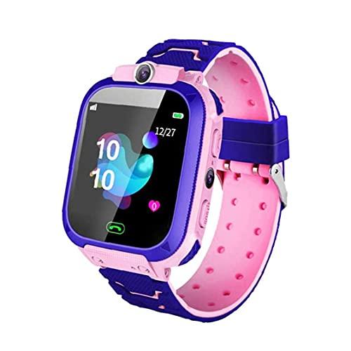Smart Watch Kids Smart Watch Teléfono Niños Pulsera Pink SOS Llame a la cámara SIM a prueba de agua Compatible con el ANRIROID iOS