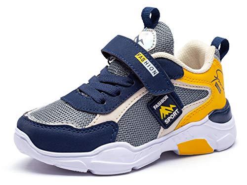 Running Shoes Fille 30 Basket Enfants Chaussures de Course Athlétiques Sneakers Garçon de Sport Walking Shoes Respirant Confortable Compétition Entraînement Mode Shoes Unisex Été Outdoor Jaune