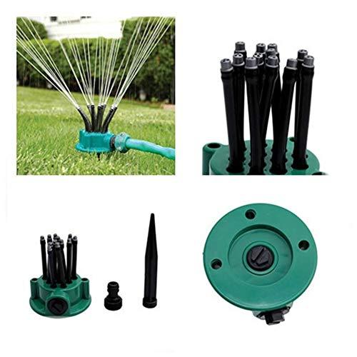 XIONGGG - Aspersor para césped, boquilla de cabeza para aspersor de múltiples puntas, pulverizador de agua para exteriores ajustable a 360 grados para jardín