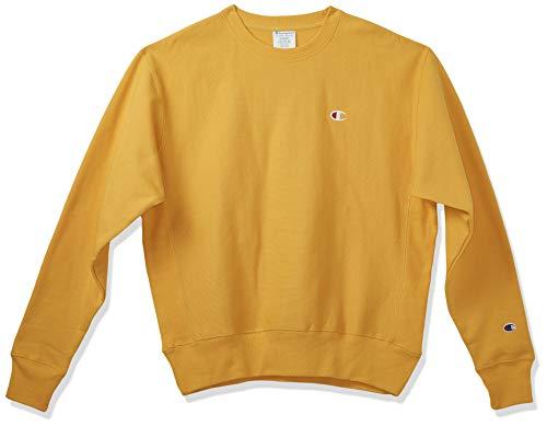 Champion Men s Reverse Weave Sweatshirt,C Gold Left Chest  C  Logo,MEDIUM