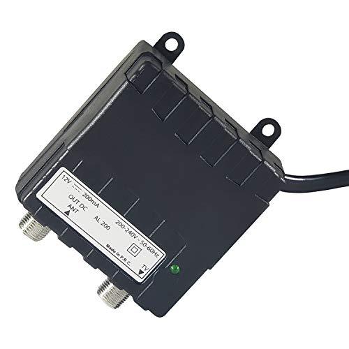 Elettronica Cusano AL200, Alimentatore per Amplificatori Antenna, 12 V 200 mA, Nero
