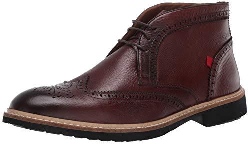 MARC JOSEPH NEW YORK Herren Leather Luxury Ankle Boot with Wingtip Detail Stiefelette, Cognac Grainy, 46 EU