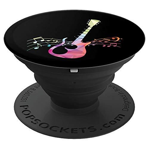 Bunte Gitarre Gitarrist Guitarre Akkord Noten Musik Geschenk - PopSockets Ausziehbarer Sockel und Griff für Smartphones und Tablets