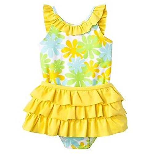 Circo Little Floral Swimsuit Swimwear & Swim Skirt Set Size 5T