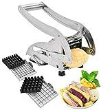 Cortador de patatas fritas, Acero Inoxidable Papas Fritas Cortadora, cortador perfecto para patatas y zanahorias en casa para Hogar y Comercial Utilice