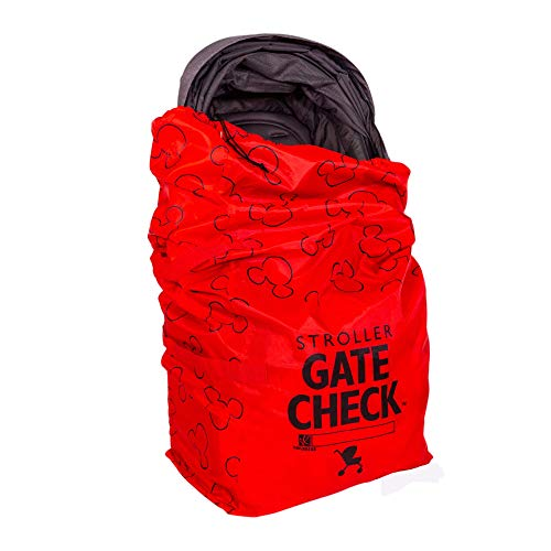 Disney Baby by J.L. Childress Gate Check Air Travel Bag for Single & Double Strollers, Red