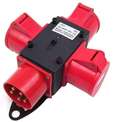 Stromverteiler 3x400V Baustromverteiler 55471 Kraftstrom CEE 32A Strom Verteiler AWZ