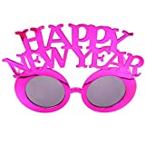 KESYOO 2021年の眼鏡大晦日2021年のサングラス大晦日のためのプラスチックおかしいアイウェアパーティー写真プロップ用品(バラ色)