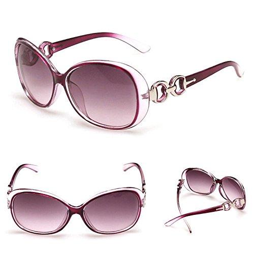 Morado New Womens Ladies Retro Vintage Amor Corazón Shades gafas de sol para gafas gafas gafas de sol de estilo aviador (Marcos para hombres y mujeres–funda de gafas venta
