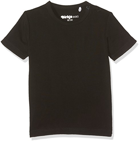 DIRKJE T- T-Shirt Short Sleeves T- Noir (Black), 5 Ans (Taille Fabricant: 110) Mixte bébé