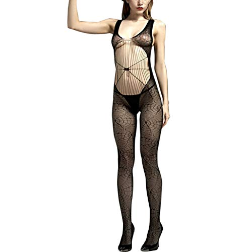 SHE.White Damen Bodysuit Puppe Teddy Nachthemd Spitz Erotik Lingerie Unterwäsche Nachtwäsche Overalls