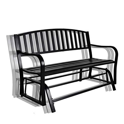 B BAIJIAWEI Outdoor Glider Garden Bench - Patio Swing Rocking Glider for 2 Person,Steel Frame Furniture for Porch, Garden, Sunroom, Backyard or Deck