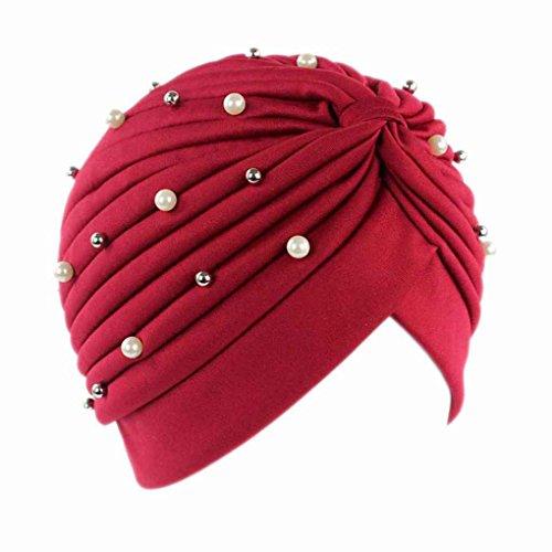 LUFA Pérdida de Las Mujeres Artificiales de la Perla de Pelo del Sombrero del Turbante cáncer de Cabeza Pañuelos quimioterapia Gorra