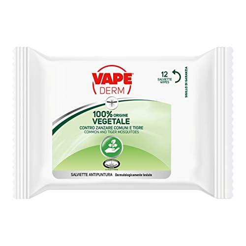 100% derm vegetale salviettine antipuntura 1 confezione salviette 12
