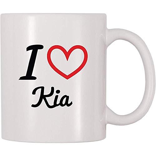 Ich liebe Kia Kaffeetasse-Tee-Schale lustige Becher