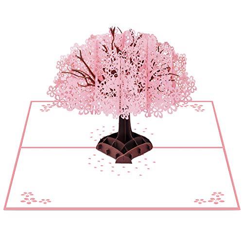 Pop-Up Karte 3D Geburtstagskarte Hochzeitskarte mit Umschlag zum Geburtstag, Danksagung, Valentinstag, Muttertag, Jahrestag, Hochzeit, Abschlussfeier