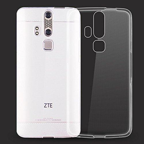Prevoa ® 丨Transparent Silicona TPU Protictive Funda Case para ZTE Axon Elite Libre 4G 5,5 Pulgada Smartphone - Transparent