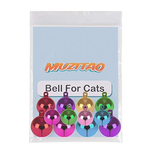 Glocke für Katzen (12 Stück) stärkste und lauteste Glöckchen für Katzenhalsbänder von Muzitao
