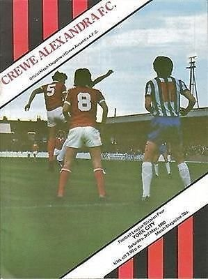 Crewe Alexandra York City 03/05/80 GRESTY Road football programme